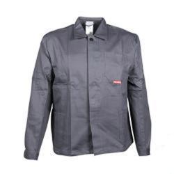 """Restposten - Arbeitsjacke """"BW 290"""" von Planam - 100 % Baumwolle - EN 26330 - Größe 54 - grau"""
