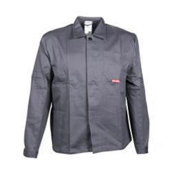 """Restposten - Arbeitsjacke """"BW 290"""" von Planam - 100 % Baumwolle - EN 26330 - Größe 56 - grau"""