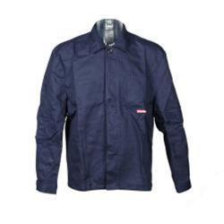 """Restposten - Arbeitsjacke """"BW 290"""" von Planam - 100 % Baumwolle - EN 26330 - Größe 28 - hydronblau"""