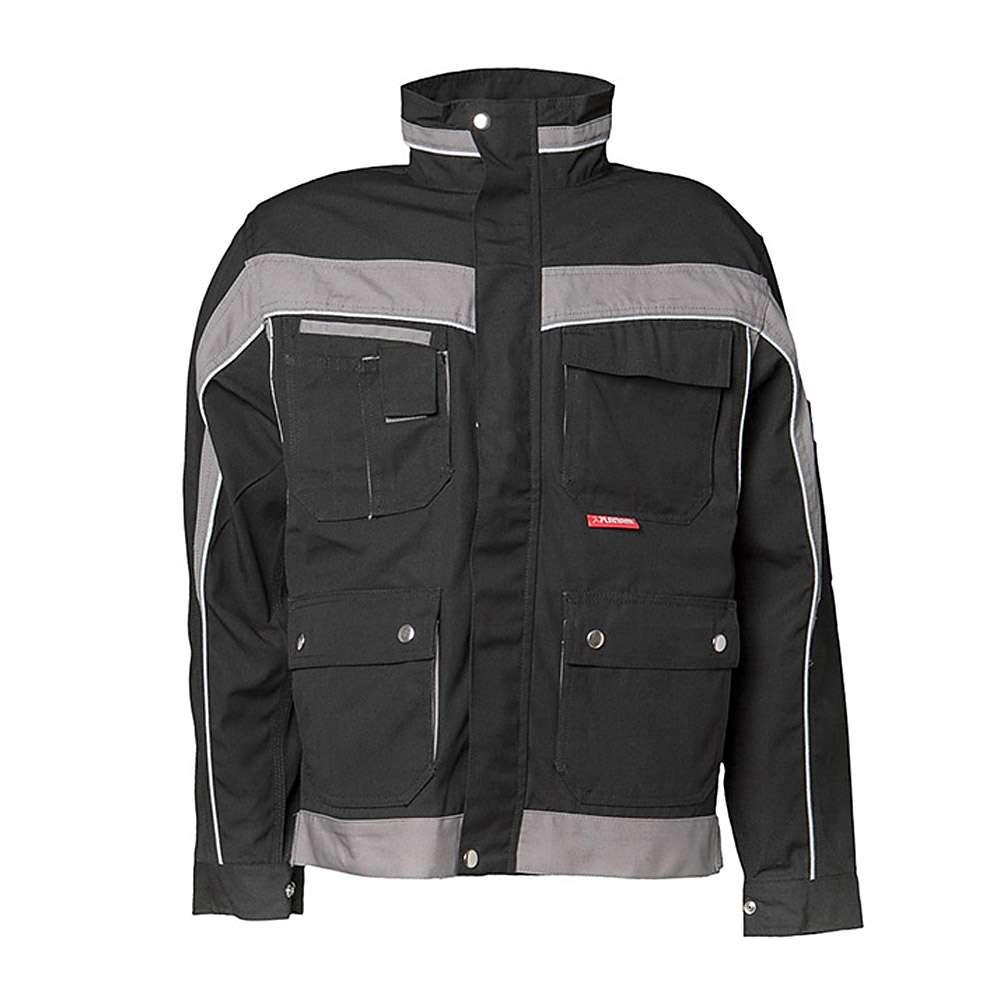 "giacca collare ""Plaline"" - 65% poliestere - materiale riflettente argento 8910"