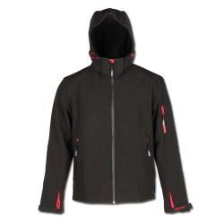 """Softshelljacka """"ZETA"""" - arbetsjacka - 100% polyester - svart"""
