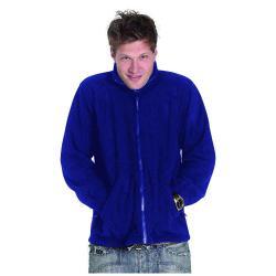 Restposten - Premium Fleece Jacke - Gr. XXXXL - königsblau - 100% PES Micro Fleece - Anti-Pill mit Reißverschluss - Kadett-Style Kragen - für Beruf und Freizeit