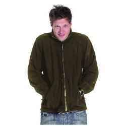 Restposten - Premium Fleece Jacke - Gr. XXXL - flaschengrün - 100% PES Micro Fleece mit Anti-Pill - Reißverschluss - Kadett-Style Kragen - für Beruf und Freizeit