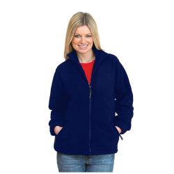 Restposten - Fleece Jacke - Gr. XXL - marineblau - 100% PES Micro Fleece - Anti-Pill - Reißverschluss - Kadett-Style Kragen - für Beruf und Freizeit