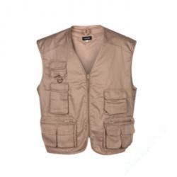 """Restprodukt - Allround väst """"Brackel"""" - 65% polyester / 35% bomull - Strl. 4 XL (62/64) - beige"""
