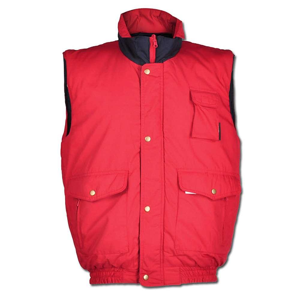 "Vinterväst ""EGESTORF"" - 65% Polyester/ 35% bomull - röd/marinblå"