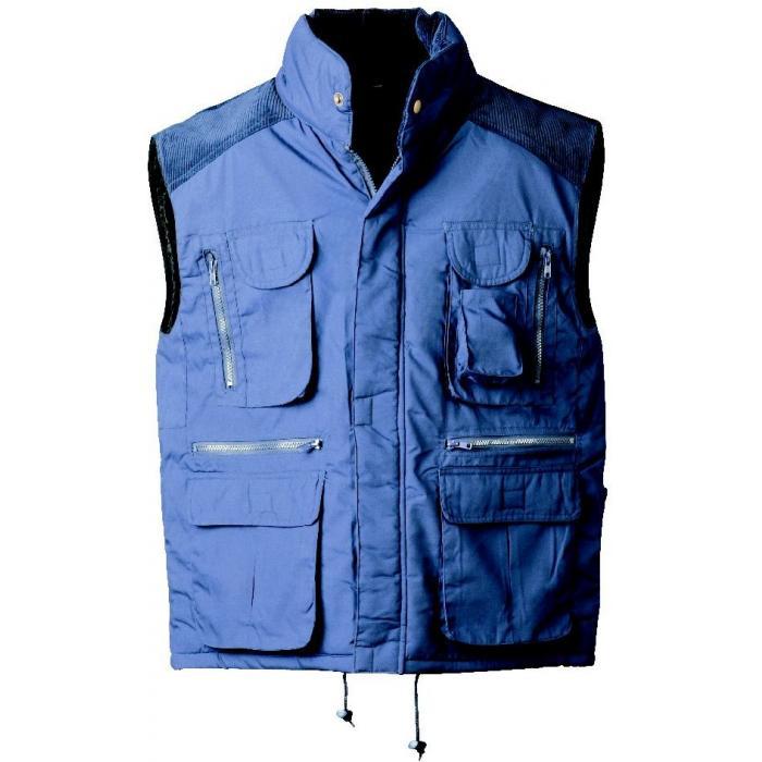 "Vinterväst ""REINDORF"" - 65% polyester/35% bomull - marinblå"
