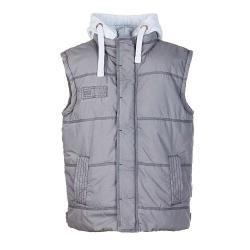 PLANAM Slack Weste - Baumwolle und Polyester - grau