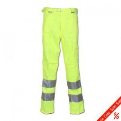 """Bundhose """"Warnschutz"""" von Planam - 85% Polyester, 15% Baumwolle - EN 26330 - Größe 60 - gelb/marine"""