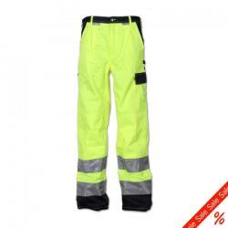"""Bundhose """"Warnschutz"""" von Planam - 85% Polyester, 15% Baumwolle - EN 26330 - Größe 48 - gelb/marine"""