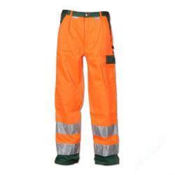 """Restposten - Bundhose """"Warnschutz"""" von Planam - 85 % Polyester, 15 % Baumwolle - Größe 50 - orange/grün"""