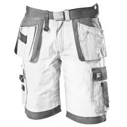 Handwerker-Shorts - Ocean Workwear - mit Gürtel - Größe XXL - Weiß