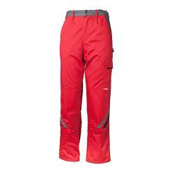 "Pantaloni ""Highline"" Planam - 35/65% MG - rosso / ardesia"