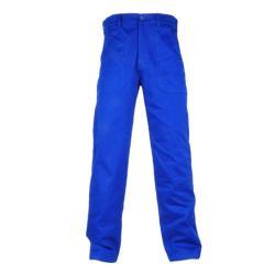 """Restposten - Arbeits-Hose """"BERNAU"""" - 100 % Baumwolle - 240 g/m² - Bund mit Gürtelschlaufen - Größe 64 - kornblau"""