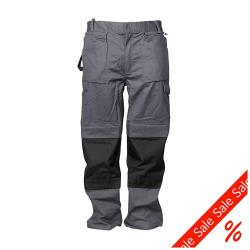 Arbetsbyxor - 35/65% blandväv - 260 g/m² - storlek 58 - grå/svart