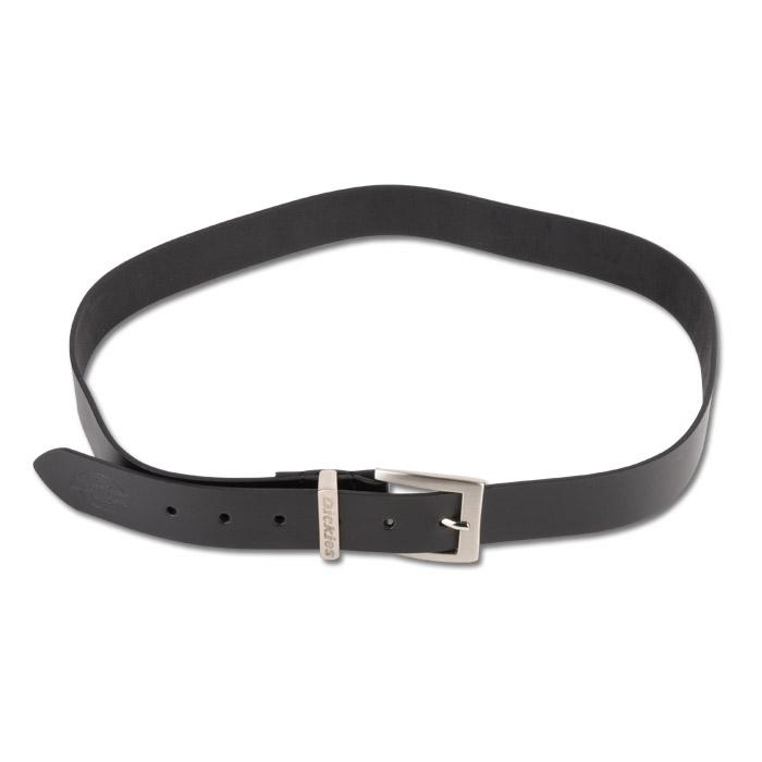 Läderbälte - Dickies - svart - metallspänne