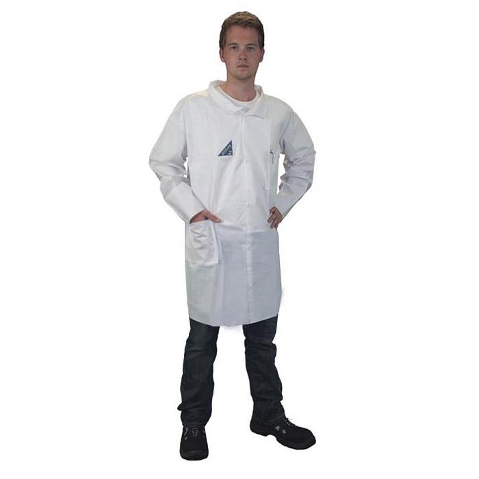 Schutzkittel - PSA Kat I - antistatisch - Druckknöpfe