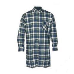 Flanellskjorta - 100% bomull - lång ärm - M