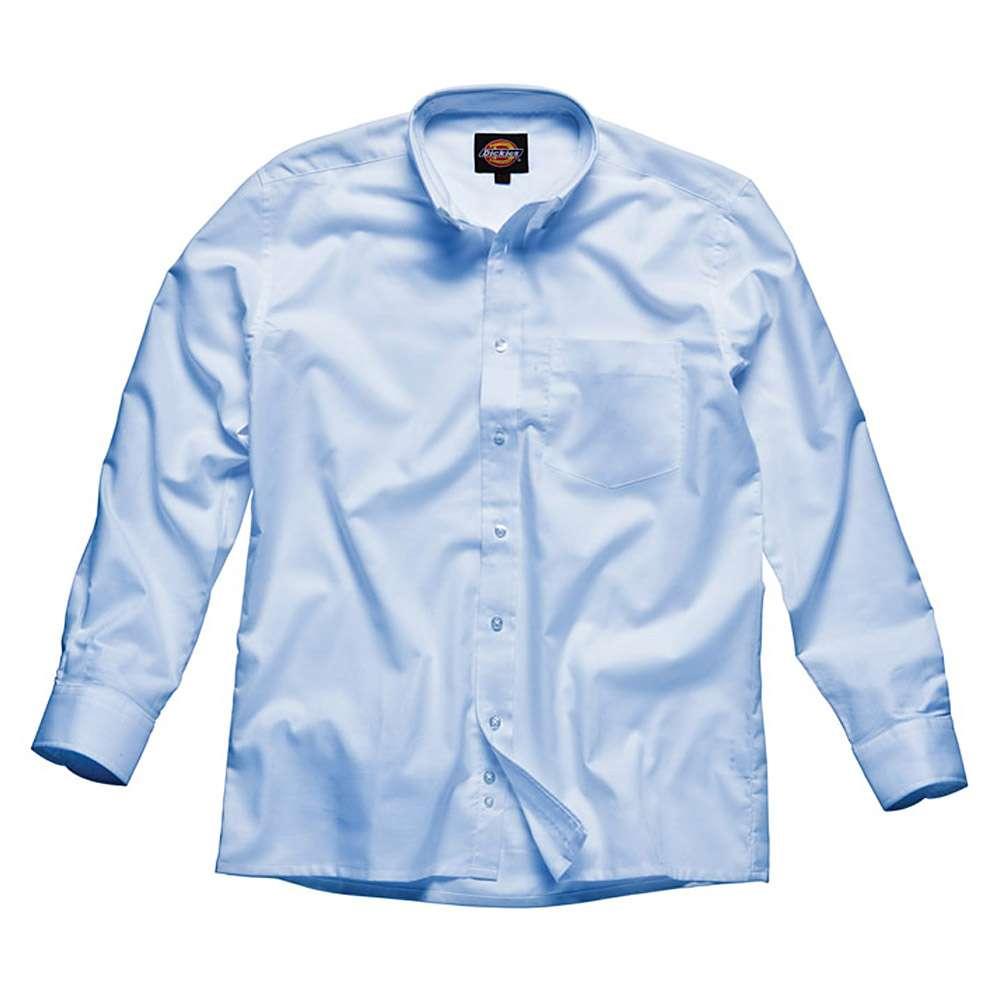"""Män skjorta """"Oxford"""" - Dickies - Långärmad - Ljusblå - Bomull"""