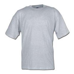Klassisches T-Shirt - grau-meliert - Größe M-XXL - 100% Baumwolle