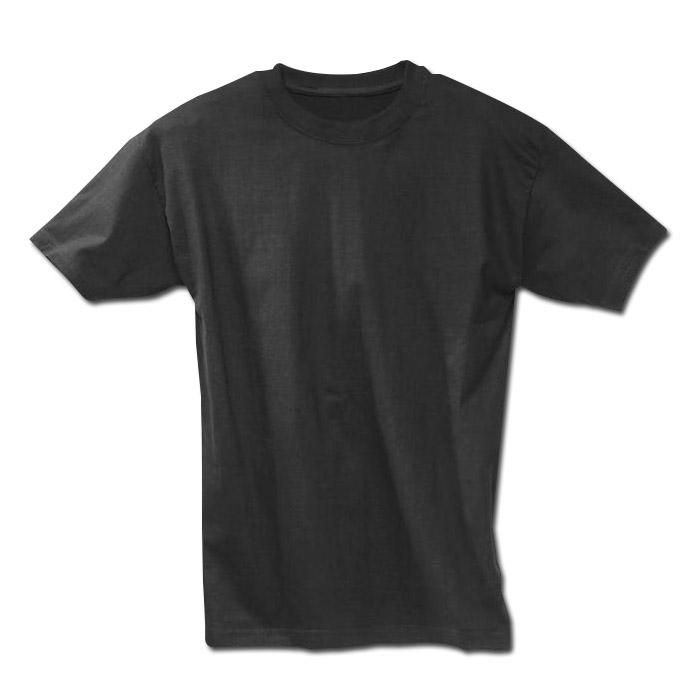 Klassisk T-shirt - svart - storlek M-XXL / 50-64 - 100% bomull