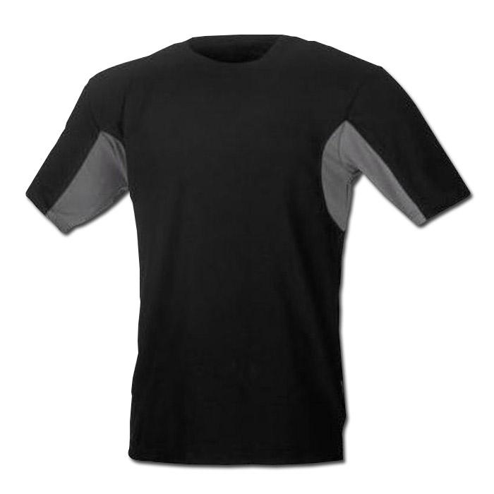 Funktionell T-shirt - svart / grå - storlek M-XXL - CoolDry®