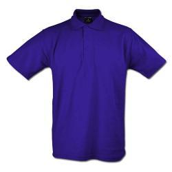 """Restposten - Poloshirt - Gr. M - purpur - 50 % PES - 50 % CO - 220 g/m² - 60°C waschbar - sehr robust - gestrickter Kragen - für Freizeit und Beruf - """"Classic"""""""