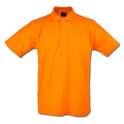 "Remainders - Polo Shirt - Gr. XL - orange - 50% PES - 50% CO - 220 g / m² - 60 ° C washable - very robust - knitted collar - for leisure and work - ""Classic"""