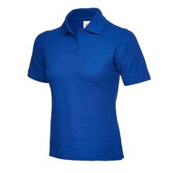 "Restposten - Poloshirt - Gr. 4XL - königsblau - 50% PES - 50% CO - ideale Passform - Seitenschlitzen - verstärkter Kragen - verlängerter Rückseite - ""Damen Pique"""