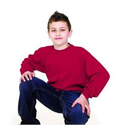 Remainders - Sweatshirt Children - 7-8 years / body size 28 - red - long sleeves - Name tag on the label - 60 ° C washable