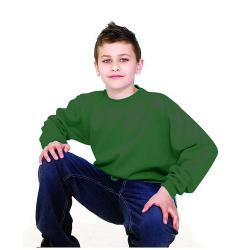 Remainders - Sweatshirt Children - 7-8 years / body size 28 - bottle green - long sleeves - Name tag on the label - 60 ° C washable
