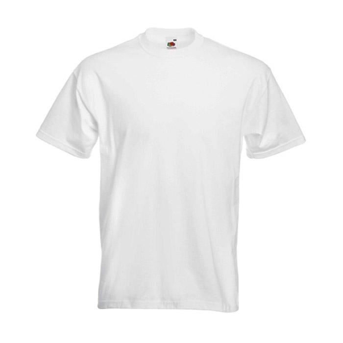 """ULRICH"" T-shirt - FRUIT OF THE LOOM® - 100% bomull - vikt 190 g / m² - vit - storlekarna S-XXXL"