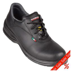 "Remainders - Professional Shoes - Gr. 45 - black - Water repellent leather - ""model Postman"" - EN 347 ESD"