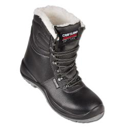 "Winter Boot ""WINTERHUDE UK"" - Leather Shaft - Color Black - Norm EN ISO 20345 S3"