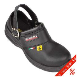 "Remainders - Clogs - ""Model Free"" - WRU Water repellent leather - SRC, SB, A, E, ESD - with toe cap - Gr. 36 - black"