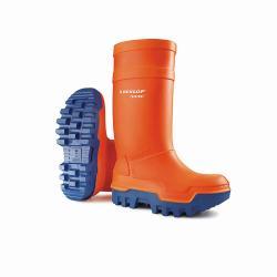Thermo Schutzstiefel - Ocean Dunlop Purofort - Größe 39 bis 48 - Orange