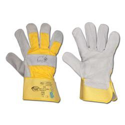 "Handskar ""Mammut"" - nötläder - röd/grå - EN 388 kategori 2"