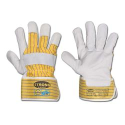"Protective gloves ""J-nature"" -  Cowhide full leather  - EN 388 Category 2"