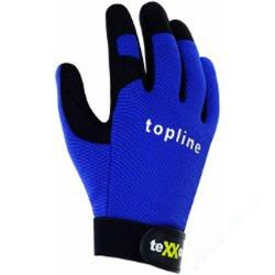 """Handskar """"teXXor"""" - syntetläder - storlek 7 - svart/blå"""