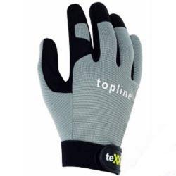 """Handskar """"teXXor"""" - syntetläder - storlek 7 - svart/grå"""