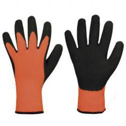 "Rester - Stark Hand® latex handske ""Arved"" - akryl - latex - Orange / svart - EN 388, EN 511"