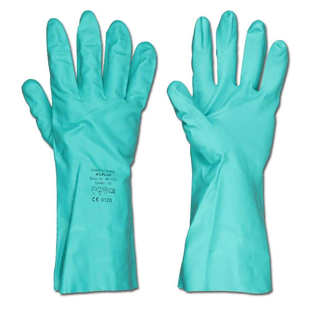 Chemikalien-Schutzhandschuhe M3-PLUS - grün - Nitril-Perbunan