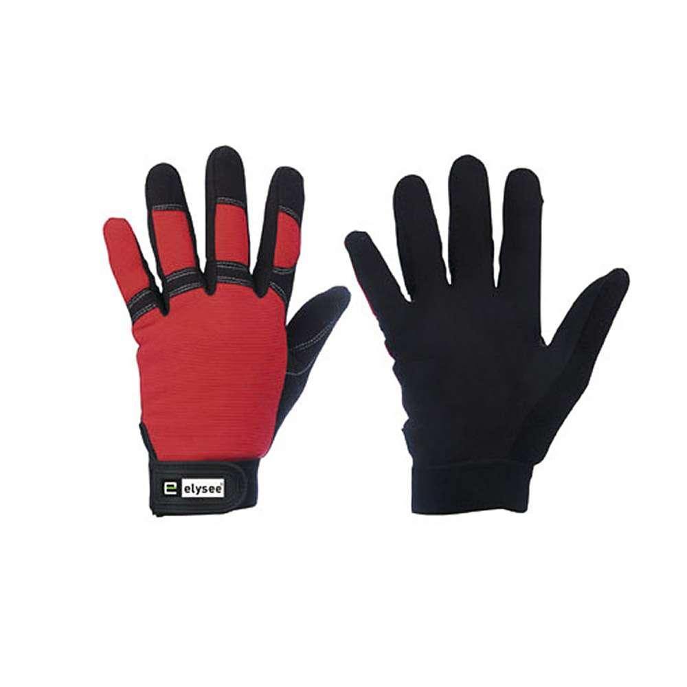 """Handskar """"Technician"""" - röd spandexrygg - En 388"""