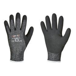 WINTER FLEX 5 OPTI FLEX® Handschuhe - Schnittschutzfaser / Latex - Größe 9, 10, 11 - schwarz - CAT 2 - Preis per Paar