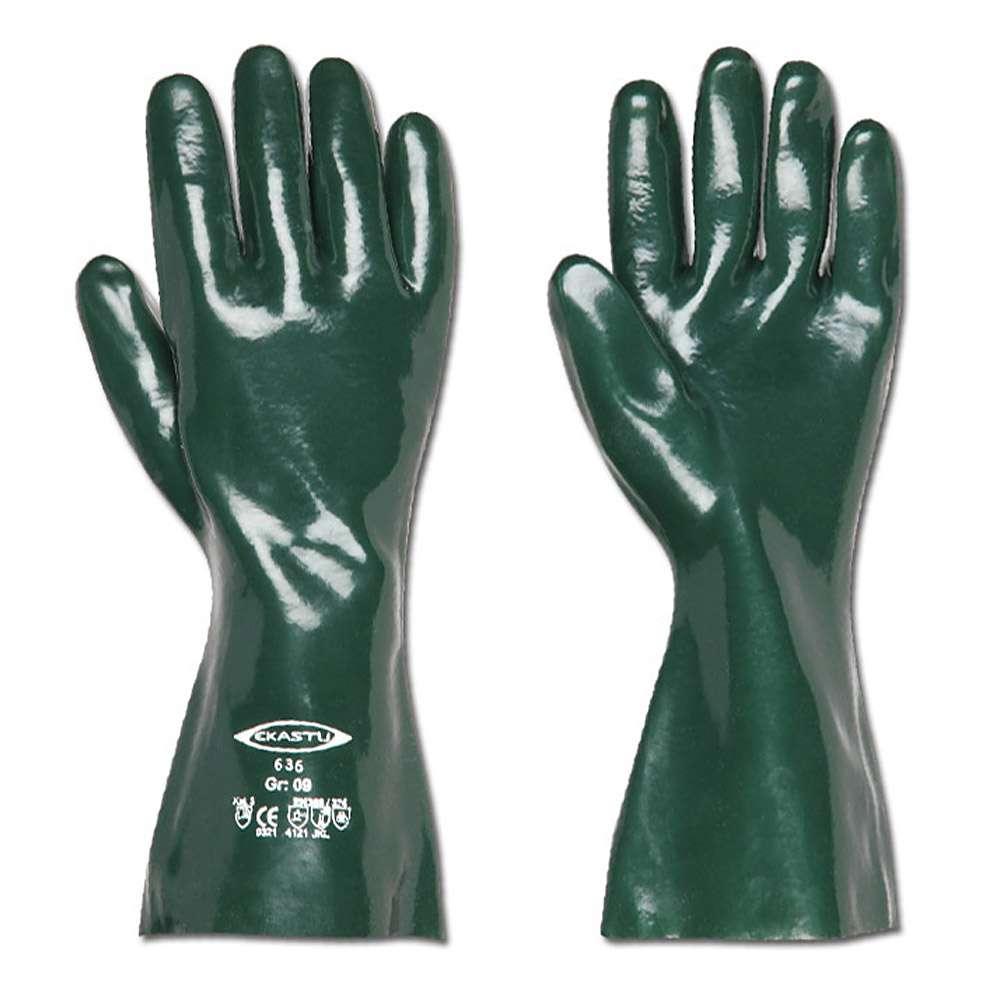 Kemisk Skyddshandskar - grön - 28-60 cm långa