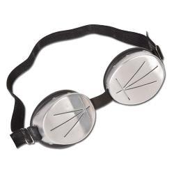 Regenbrille - Schutz vor Regen - schwarz/silber