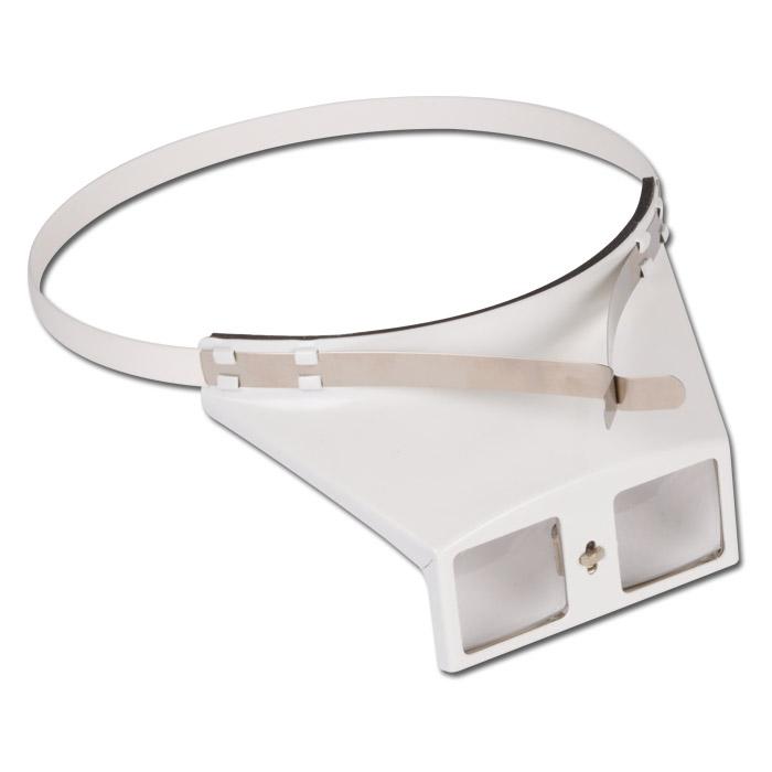 Binokulare Kopfbandlupe - Linsengröße 28x32 mm - weiß
