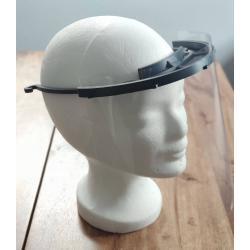 Visiera monodimensionale - Visiera - PVC - realizzata con stampante 3D - piastra visiera intercambiabile - prezzo per pezzo