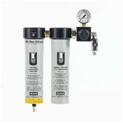 SATA filter 100 prep - Filtertechnik - 2-stufiger Sinterfilter/Feinfilter mit Druckregler und Abgangshahn (1 x G 1/4 a) - für den Vorbereitungsraum