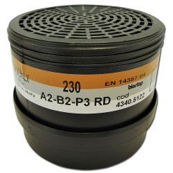 Kombinationsfilter 230 A2 B2-P3R D - für Halbmaske - 2 Stück